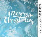 merry christmas on blue... | Shutterstock .eps vector #501353194