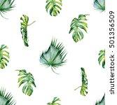 seamless watercolor... | Shutterstock . vector #501356509