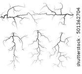 set of thunder bolts in black...   Shutterstock .eps vector #501362704