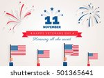happy veteran day flyer  banner ... | Shutterstock .eps vector #501365641