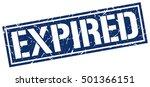 expired. grunge vintage expired ... | Shutterstock .eps vector #501366151