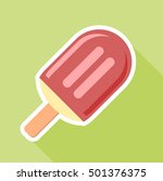 flat style ice cream icon on a... | Shutterstock .eps vector #501376375