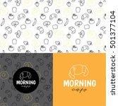 logo morning cafe | Shutterstock .eps vector #501377104
