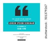 business seminar invitation... | Shutterstock .eps vector #501379267