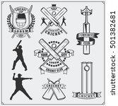 set of cricket sports symbols ...   Shutterstock .eps vector #501382681