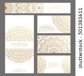 mandala pattern design template.... | Shutterstock .eps vector #501383611