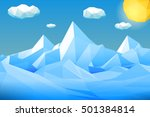 abstract polygonal winter... | Shutterstock .eps vector #501384814