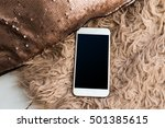 mobile  smartphone with black... | Shutterstock . vector #501385615