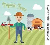 farmer working in the farm... | Shutterstock .eps vector #501386941