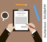 business document with human... | Shutterstock .eps vector #501386959