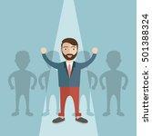 businessman of leader. standing ... | Shutterstock .eps vector #501388324
