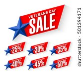 veterans day sale stickers ... | Shutterstock .eps vector #501394171