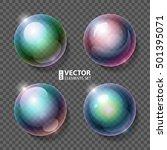 realistic shiny rainbow... | Shutterstock .eps vector #501395071