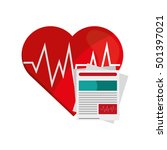 heart cardiogram and medical... | Shutterstock .eps vector #501397021