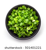 Bowl Of Chopped Spring Onions...