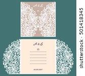 wedding invitation or greeting...   Shutterstock .eps vector #501418345