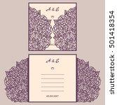 wedding invitation or greeting... | Shutterstock .eps vector #501418354