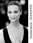 Small photo of VENICE, ITALY - SEPTEMBER 01: Alicia Vikander attends the premiere of 'The Light Between Oceans' during the 73rd Venice Film Festival on September 1, 2016 in Venice, Italy.