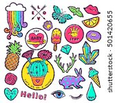 fashion patch badge elements in ... | Shutterstock .eps vector #501420655