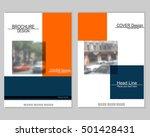vector brochure cover templates ... | Shutterstock .eps vector #501428431