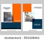 vector brochure cover templates ...   Shutterstock .eps vector #501428461