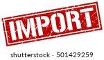 import. grunge vintage import... | Shutterstock .eps vector #501429259