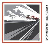 burnout car  japanese drift... | Shutterstock .eps vector #501432055