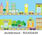city life   Shutterstock .eps vector #501432634