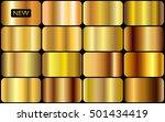 vector set of gold gradients... | Shutterstock .eps vector #501434419