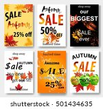 collection of autumn sale and... | Shutterstock . vector #501434635