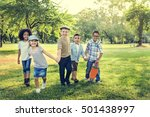 casual children cheerful cute... | Shutterstock . vector #501438997
