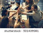 people hand assemble connection ... | Shutterstock . vector #501439081