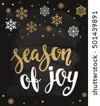 season of joy. holiday greeting ... | Shutterstock .eps vector #501439891