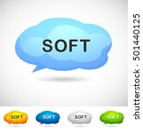 modern design speech bubble... | Shutterstock .eps vector #501440125