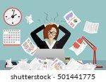 stress at work concept flat... | Shutterstock .eps vector #501441775