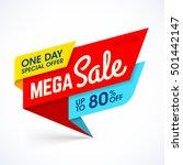 one day mega sale banner ... | Shutterstock .eps vector #501442147