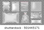 big set of transparent empty... | Shutterstock .eps vector #501445171