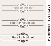 retro text dividers set.... | Shutterstock .eps vector #501451585