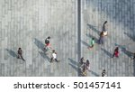 blur people are going across... | Shutterstock . vector #501457141