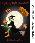 vector halloween poster | Shutterstock .eps vector #501461365