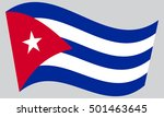 cuban national official flag....