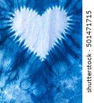 the fabric is indigo dye  heart ...   Shutterstock . vector #501471715