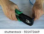 the lan camp for the lan cable | Shutterstock . vector #501472669