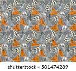 triangles orange striped with... | Shutterstock .eps vector #501474289