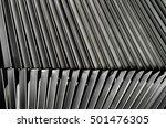metal louver architectural... | Shutterstock . vector #501476305