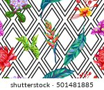 seamless pattern with thailand... | Shutterstock .eps vector #501481885