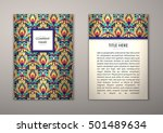 flyer template with abstract...   Shutterstock .eps vector #501489634