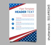 usa patriotic background.... | Shutterstock .eps vector #501490345