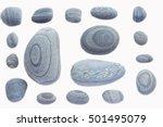 Set Of Stones  Sea Pebbles ...