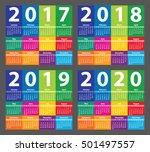 color calendar 2017 starting... | Shutterstock .eps vector #501497557